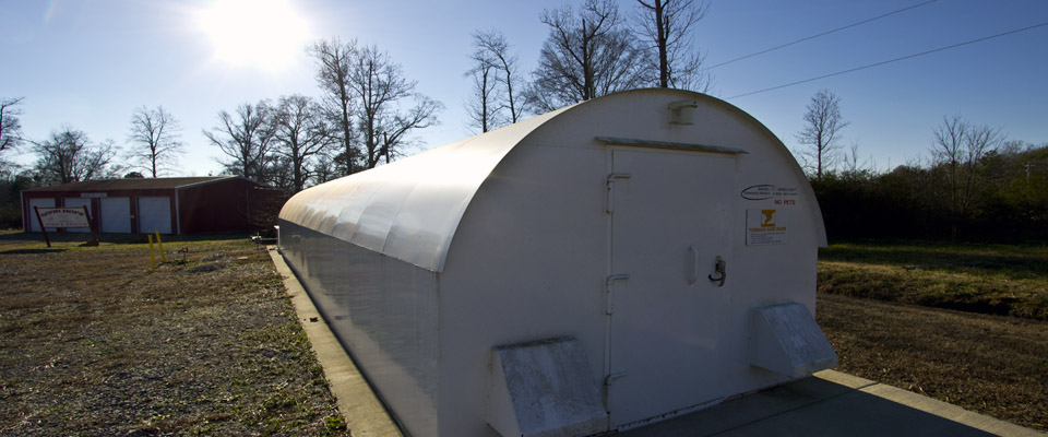 Storm Shelter at Fire Department